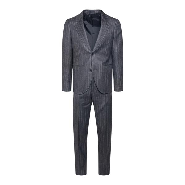 Grey striped suit                                                                                                                                     Emporio Armani B1VWXN back