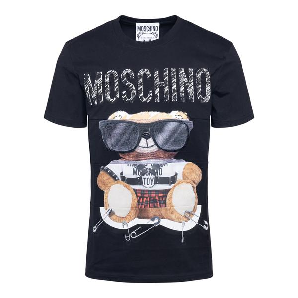 Black T-shirt with teddy bear                                                                                                                         Moschino 0701 back