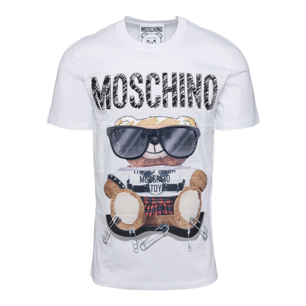 White T-shirt with teddy bear and brand name                                                                                                          Moschino 0701 back