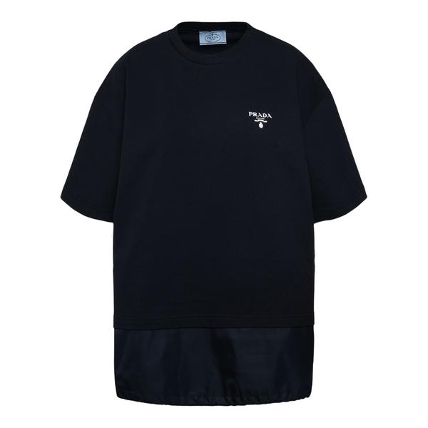 Black T-shirt with logo                                                                                                                               Prada 135694 back