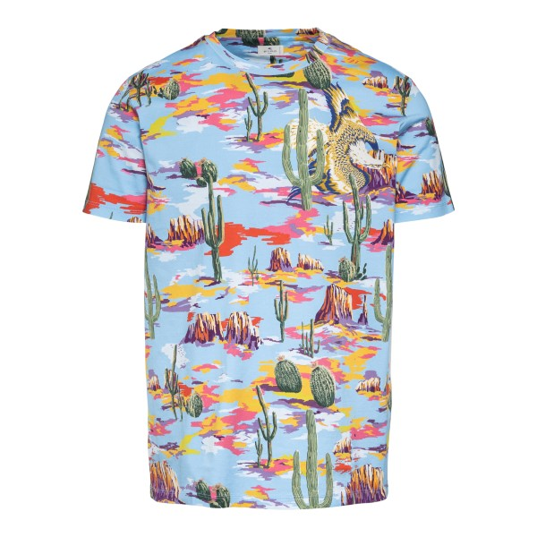 Multicolored T-shirt with graphic print                                                                                                               Etro 1Y020 front