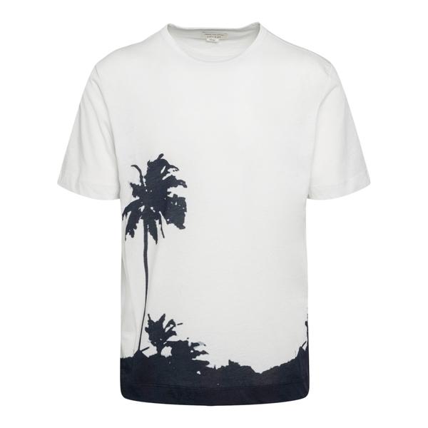 White T-shirt with palm tree print                                                                                                                    Dries Van Noten 21103 back