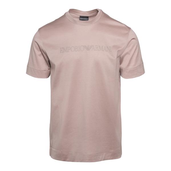 T-shirt rosa con scritta logo                                                                                                                         Emporio Armani 3K1TAG retro