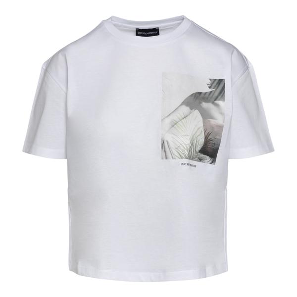 T-shirt bianca con stampa                                                                                                                             Emporio Armani 3K2T7V retro