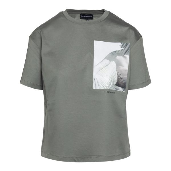 T-shirt verde con stampa                                                                                                                              Emporio Armani 3K2T7V retro