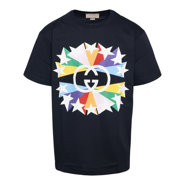 Black T-shirt with multicolored stars                                                                                                                 Gucci 548334 back