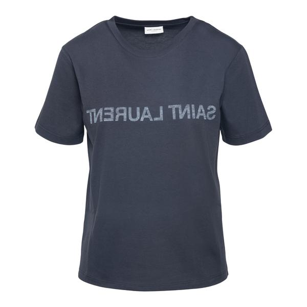 T-shirt con logo stampato al contrario                                                                                                                Saint Laurent 665234 retro