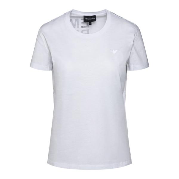 T-shirt bianca con scritta in strass                                                                                                                  Emporio Armani 6K2T7M retro