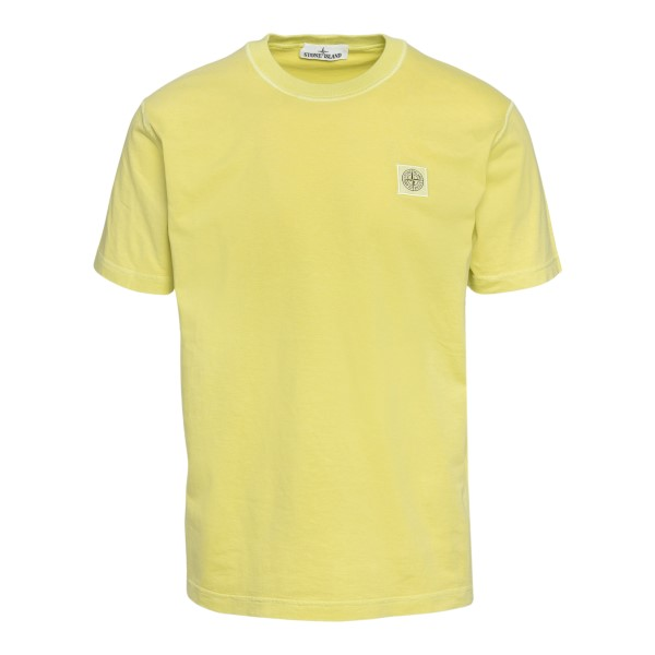 Yellow T-shirt with logo patch                                                                                                                        Stone Island 7415237 back
