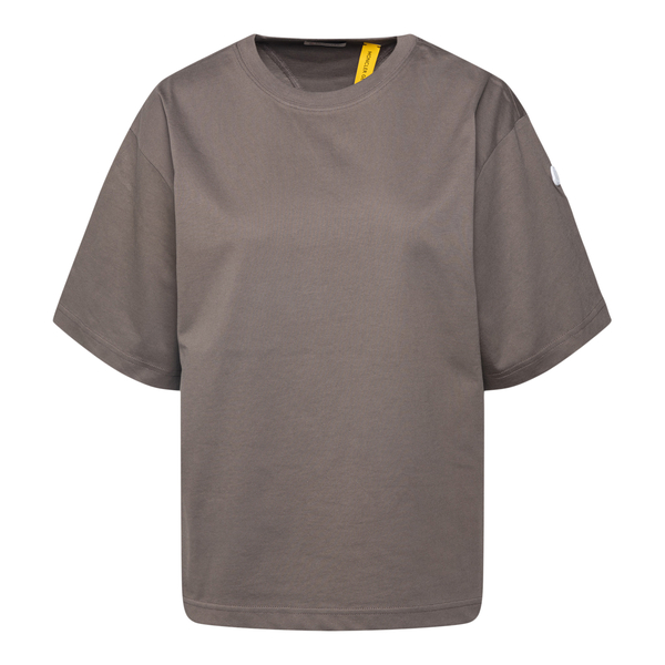 T-shirt marrone con nome brand sul retro                                                                                                              Moncler Hyke 8C00004 retro