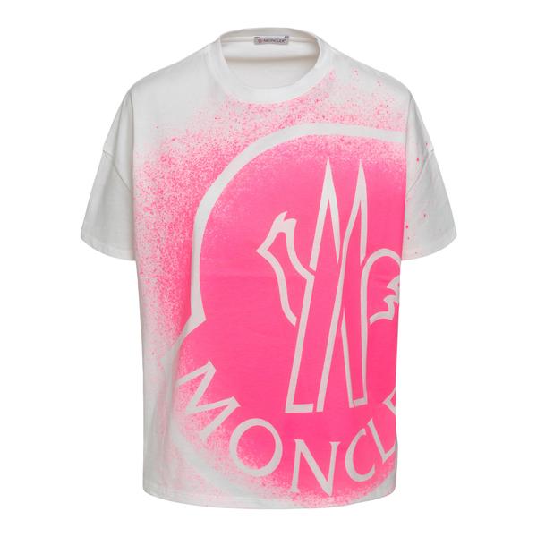 White T-shirt with stencil print                                                                                                                      Moncler 8C7B310 back