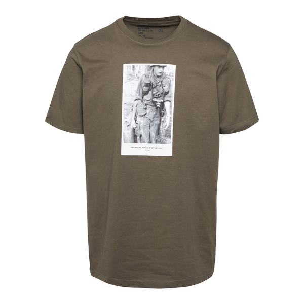 Green T-shirt with photographic print                                                                                                                 Maharishi 9319 back