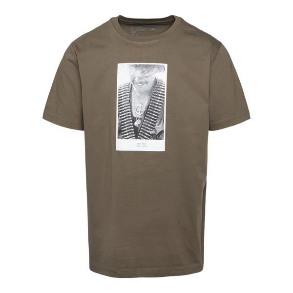 Green T-shirt with photograph                                                                                                                         Maharishi 9358 back