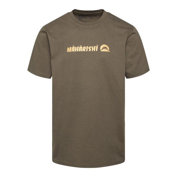 Green T-shirt with gold prints                                                                                                                        Maharishi 9406 back