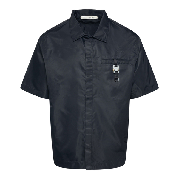 Black shirt with metal buckle                                                                                                                         Alyx AAUSH0102FA03 back