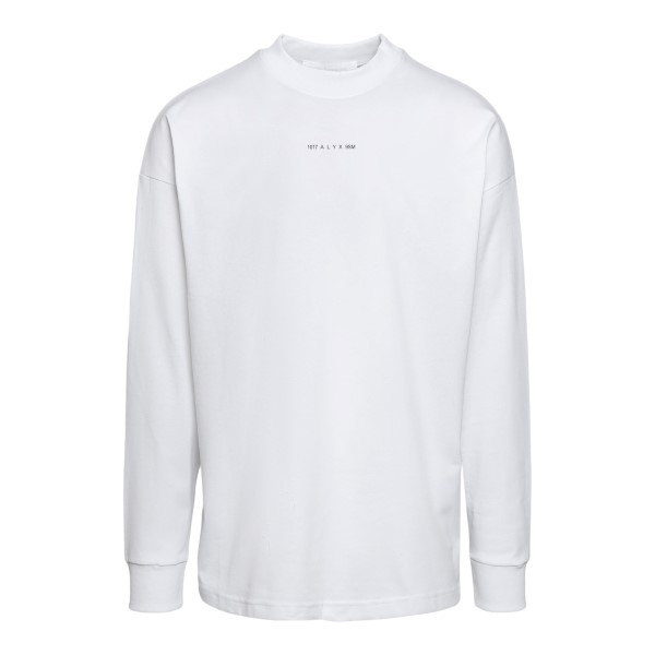 White long-sleeved T-shirt                                                                                                                            Alyx AVUTS0020FA01 front