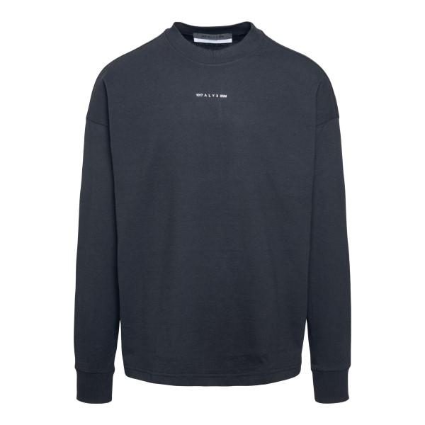 Black long-sleeved T-shirt                                                                                                                            Alyx AVUTS0020FA01 front