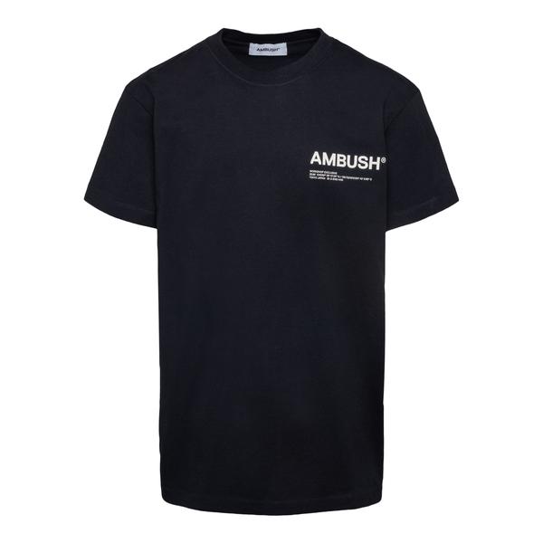 Black T-shirt with brand name                                                                                                                         Ambush BMAA007F21JER001 back
