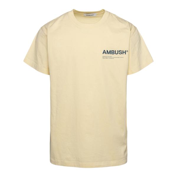 Yellow T-shirt with brand name                                                                                                                        Ambush BMAA007F21JER001 back