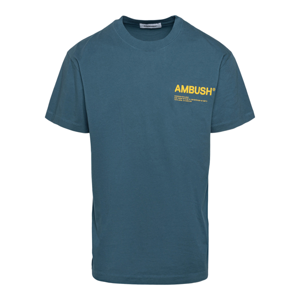 Petroleum T-shirt with brand name                                                                                                                     Ambush BMAA007F21JER001 back