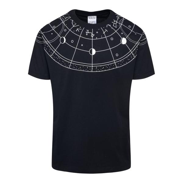 Black T-shirt with star print                                                                                                                         Marcelo Burlon CMAA018F21JER011 back