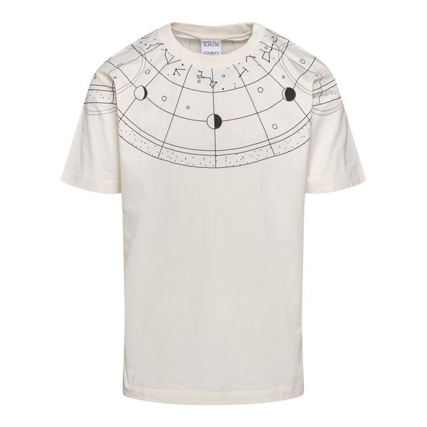 White T-shirt with star print                                                                                                                         Marcelo Burlon CMAA018F21JER011 back