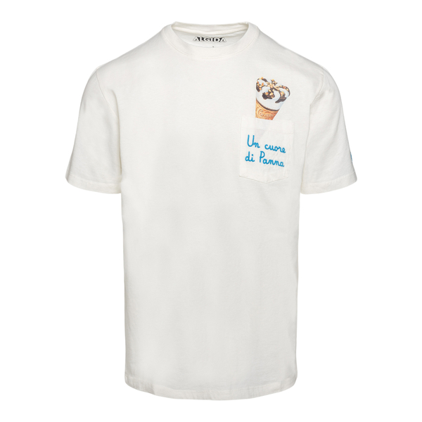 T-shirt bianca con  stampa Cornetto                                                                                                                   Saint Barth EMBCORNETTO retro