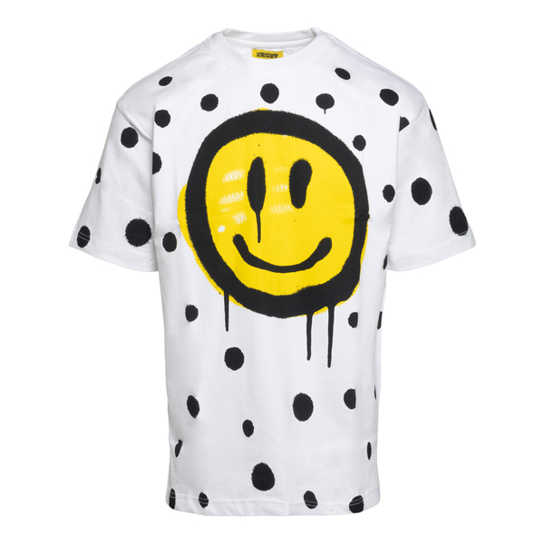 White T-shirt with Smile and polka dots                                                                                                               Chinatown Market F201990035 back