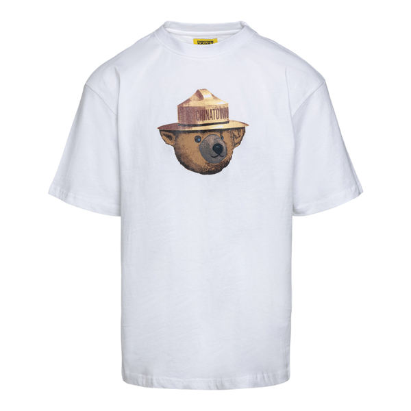 White T-shirt with teddy bear print                                                                                                                   Chinatown Market F201990027 back