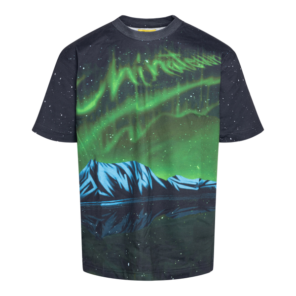 Black T-shirt with Northern Lights print                                                                                                              Chinatown Market F201990001 back