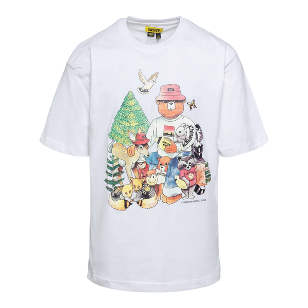 White T-shirt with animal illustration                                                                                                                Chinatown Market F201990007 back
