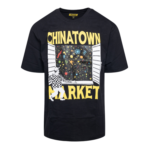 Black T-shirt with window and brand name                                                                                                              Chinatown Market F201990038 back