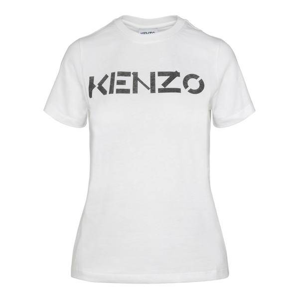 White T-shirt with contrasting brand name                                                                                                             Kenzo FB62TS841 back
