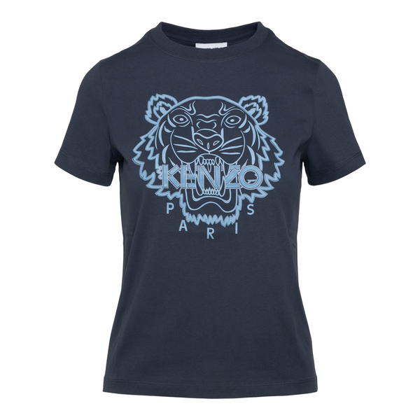 Blue T-shirt with blue tiger                                                                                                                          Kenzo FB62TS840 back