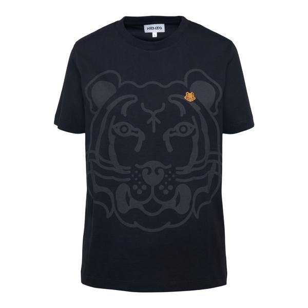 Black T-shirt with tiger print                                                                                                                        Kenzo FB62TS918 back