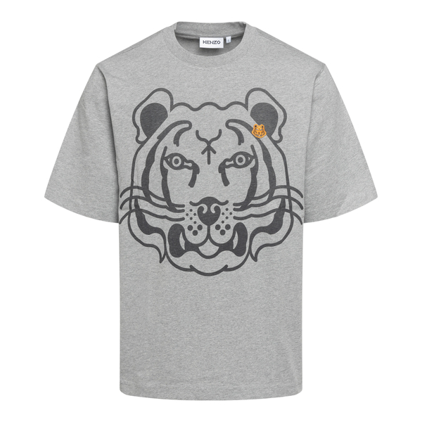 Grey T-shirt with tiger print and patch                                                                                                               Kenzo FB65TS522 back