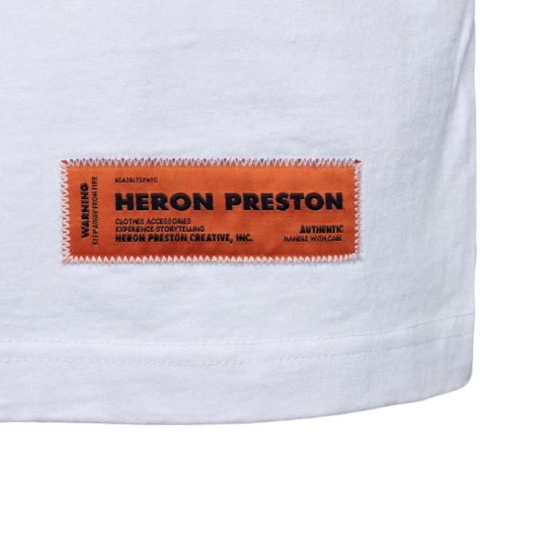 T-shirt bianca con stampe                                                                                                                              HERON PRESTON                                      HERON PRESTON