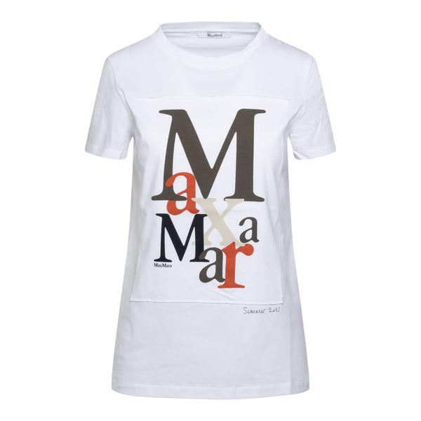 T-shirt bianca con stampe multicolore                                                                                                                 Max Mara HUMOR retro
