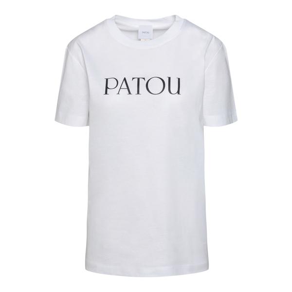 White T-shirt with logo print                                                                                                                         Patou JE0299999 back