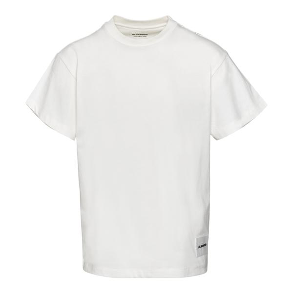 T-shirt bianca con patch logo                                                                                                                         Jil Sander JPUT706530 retro