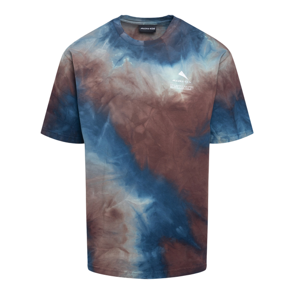 T-shirt blu e marrone effetto tie-dye                                                                                                                 Mauna Kea MKS100 retro