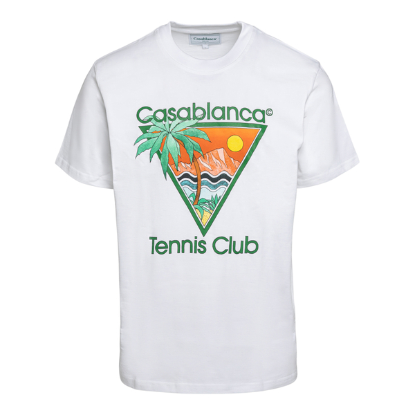 White T-shirt with graphic print                                                                                                                      Casablanca MS21TS001 back