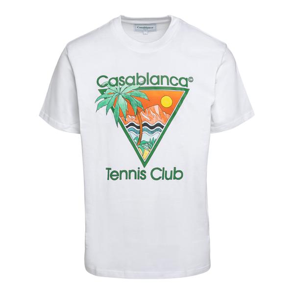 T-shirt bianca con stampa grafica                                                                                                                     Casablanca MS21TS001 retro