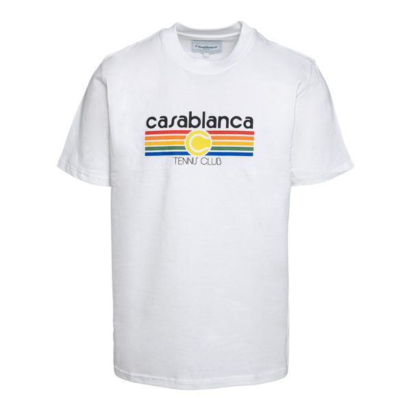 White T-shirt with multicolored print                                                                                                                 Casablanca MS21TS001 back