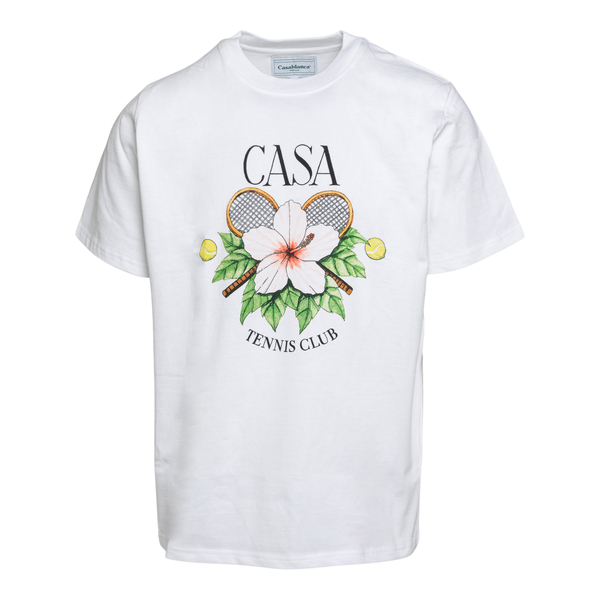 White T-shirt with print                                                                                                                              Casablanca MS21TS001 back