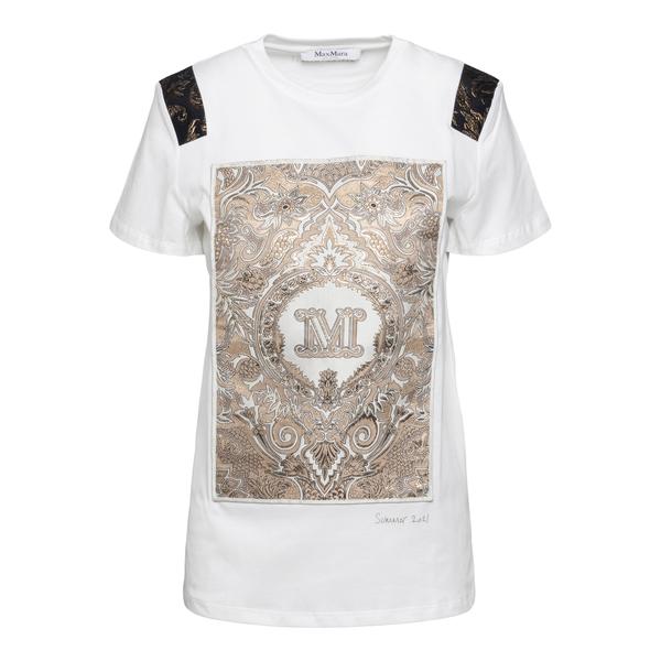 T-shirt bianca con ampia stampa                                                                                                                       Max Mara PERAK retro