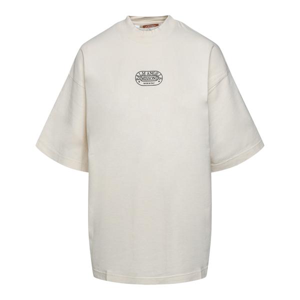 White oversized T-shirt with logo                                                                                                                     Palm Angels X Missoni PWAA017F21JER007 back