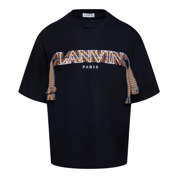 T-shirt con nome brand e nappine                                                                                                                      Lanvin RMTS0009 retro