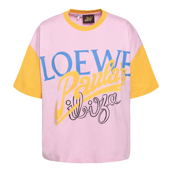 Pink T-shirt with brand name prints                                                                                                                   Loewe Paula's Ibiza S616Y22X16 front