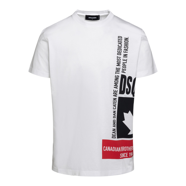 White T-shirt with printed lettering                                                                                                                  Dsquared2 S71GD1024 back
